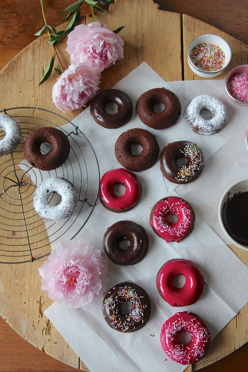 Happy Donut Day - Baked Brownie Donuts Labsalliebe