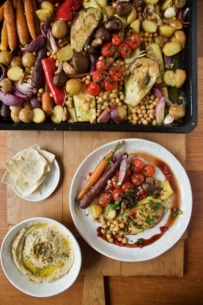 Sheet Pan Vegan nach persischer Art